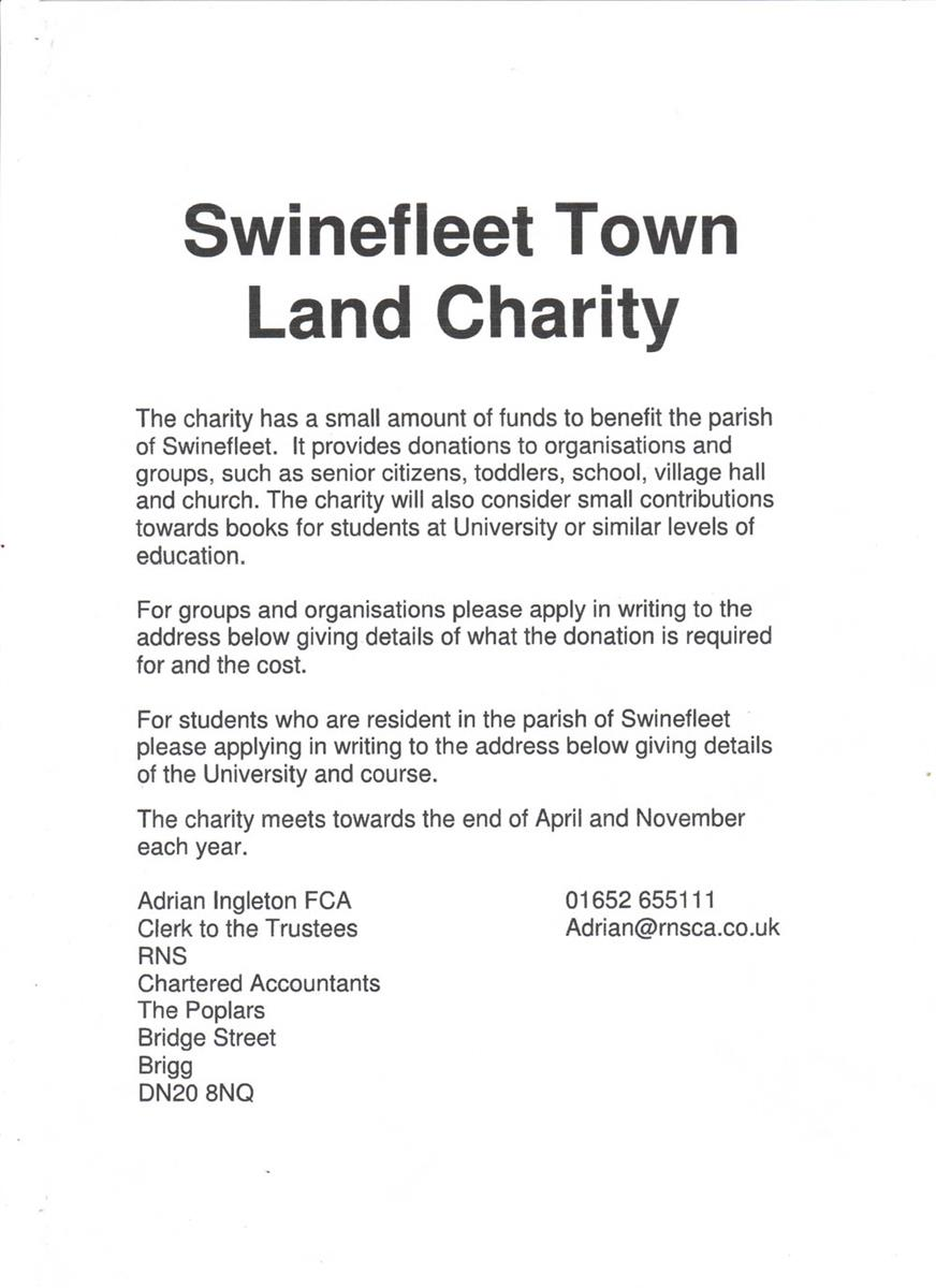 Swinefleet Land Charity Poster